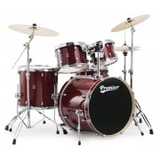 Premier XPR Modern Birch  Trans Ruby Lacquer Drum Kit