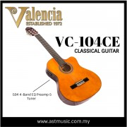 Valencia VC104CE Classical Acoustic Electric Guitar