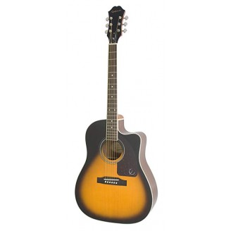 The Epiphone AJ-220SCE Solid Top Acoustic