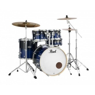 """Pearl Export Lacquer 22"""" Fusion Shell Pack, Sea Blue Fade. Zildjian cymbals"""