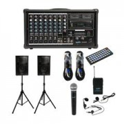 SoundArt 400 Watt 8 Channel Powered Mixer Pack